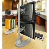 Dual Monitor Stand - Freestanding & Vertical (2MS-FV)  - 1