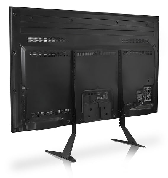 Universal TV Stand Base, Table top Pedestal Mount Fits 32 37 40 42 47 50 55 60 inch LCD LED Plasma TVs, 110 Lb Capacity (RS201)
