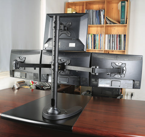 Quad LCD Monitor Freestanding Desk Stand 3+1 (4MSFHB)