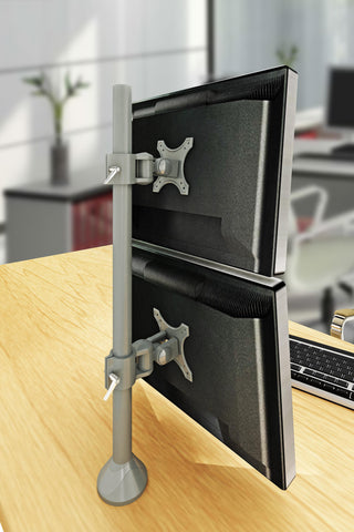 Dual Monitor Stand - Fix Type & Vertical (2MS-FTV)