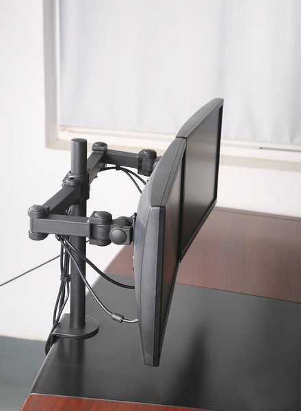 Dual Lcd Led Monitor Desk Mount Stand Heavy Duty Fully