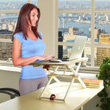 Laptop Standing Desk Converter, Height-Adjustable Stand Up Desk,  Laptop Table, Notebook Stand, Sit to Stand Table, (RDFL)