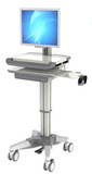 COMPUTER ON WHEELS HEALTHCARE HOSPITAL TELEMEDICINE SIT STAND CART MODEL, (HSC-PJB)