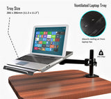 Fully Adjustable Extension with C-Clamp Single Laptop Notebook Desk Mount Stand, Black (RCLAPTOP)