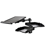 Laptop/Notebook/Projector Mount C-Clamp Stand, 2 pcs Drawers to Well Organize Your Desktop or Notebook Accessories - Black (RCLPTRAY)