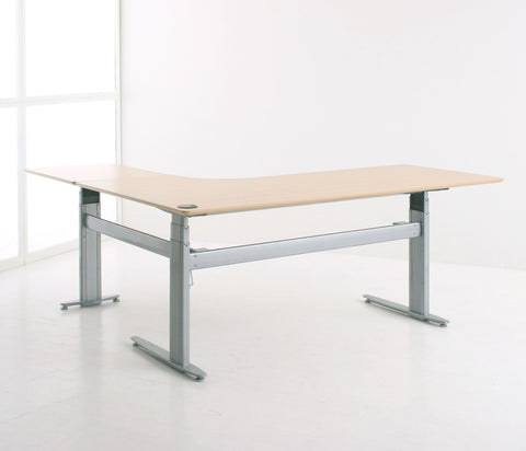 ConSet (Denmark) 3 leg for L Shape Table Electric Sit Stand Desk Model 501-25 Frame (WITHOUT WOODEN TOP)