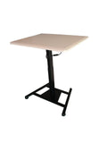 Single Leg Height Adjustable Electric Desk with 80 by 66 cm Top, (DSM)