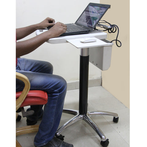 Laptop Sit Stand Mobile Gas Spring Adjustable Cart (LPC09)