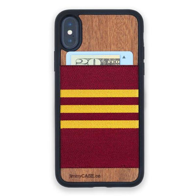 ボルドー×イエロー Burgundy and Gold Stripe