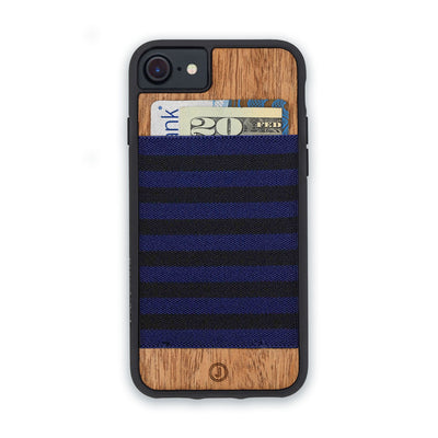 ネイビー×ブラック Navy Blue and Black Stripe