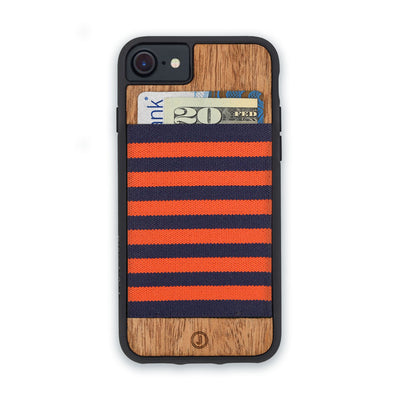 オレンジ×ネイビー Orange and Navy Blue Stripe