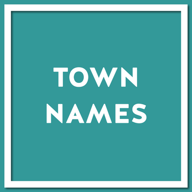 Town Names - Scottish Dialect Gifts by Doofery