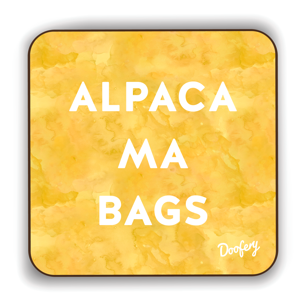 Alpaca Ma Bags Scottish Dialect Coaster Coasters Scotland Scottish Scots Gift Ideas Souvenir Present Highland Tartan Personalised Patter Banter Slogan Pure Premium Dialect Glasgow Edinburgh Doofery