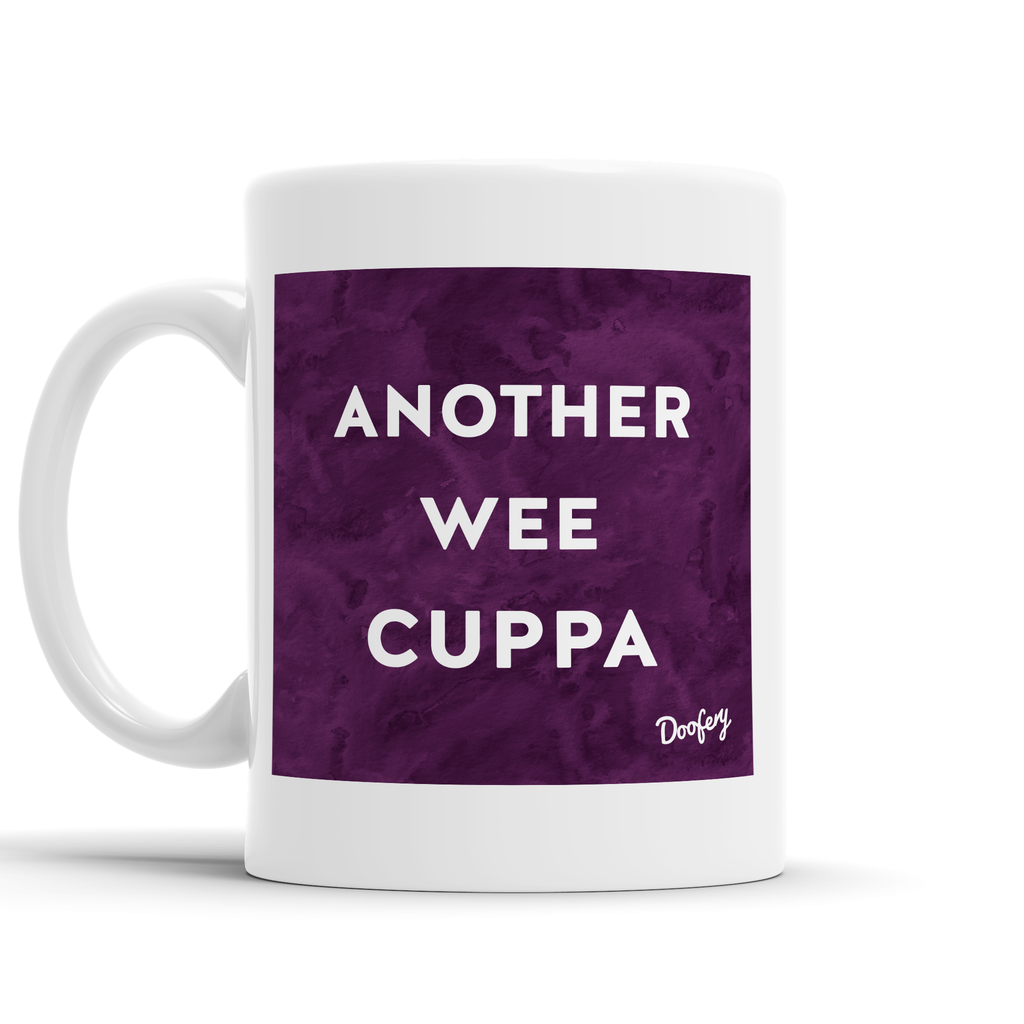 Fancy a wee Cuppa Scottish Dialect Mug Mugs Scotland Scottish Scots Gift Ideas Souvenir Present Highland Tartan Personalised Patter Banter Slogan Pure Premium Dialect Glasgow Edinburgh Doofery