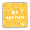 Big Hawfwit Scottish Dialect Coaster Coasters Scotland Scottish Scots Gift Ideas Souvenir Present Highland Tartan Personalised Patter Banter Slogan Pure Premium Dialect Glasgow Edinburgh Doofery