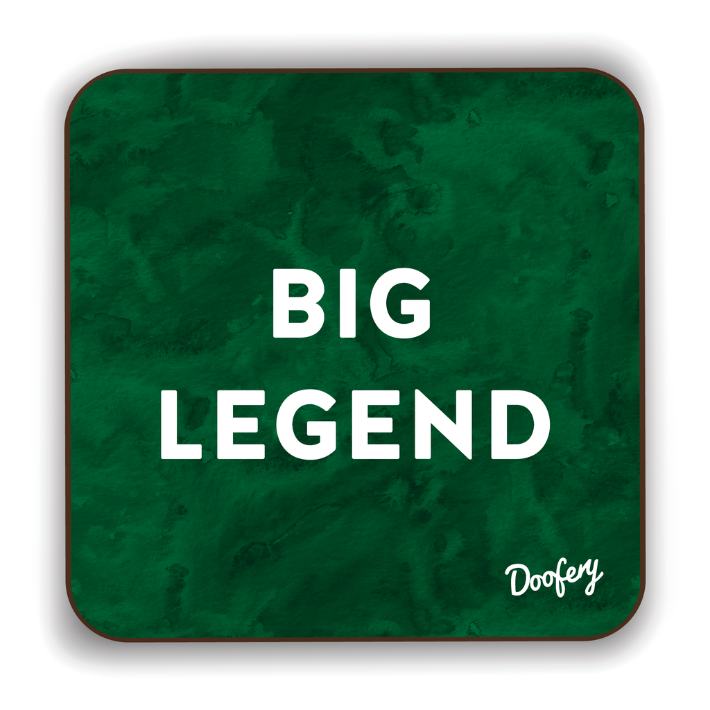 Big Legend Scottish Dialect Coaster Coasters Scotland Scottish Scots Gift Ideas Souvenir Present Highland Tartan Personalised Patter Banter Slogan Pure Premium Dialect Glasgow Edinburgh Doofery