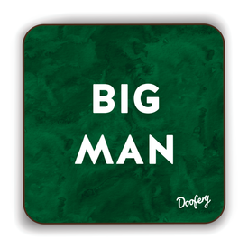 Big Man Scottish Dialect Coaster Coasters Scotland Scottish Scots Gift Ideas Souvenir Present Highland Tartan Personalised Patter Banter Slogan Pure Premium Dialect Glasgow Edinburgh Doofery