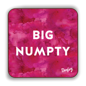 Big Numpty Scottish Dialect Coaster Coasters Scotland Scottish Scots Gift Ideas Souvenir Present Highland Tartan Personalised Patter Banter Slogan Pure Premium Dialect Glasgow Edinburgh Doofery