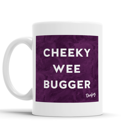 Cheeky Wee Bugger Scottish Dialect Mug Mugs Scotland Scottish Scots Gift Ideas Souvenir Present Highland Tartan Personalised Patter Banter Slogan Pure Premium Dialect Glasgow Edinburgh Doofery