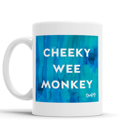 Cheeky Wee Monkey Scottish Dialect Mug Mugs Scotland Scottish Scots Gift Ideas Souvenir Present Highland Tartan Personalised Patter Banter Slogan Pure Premium Dialect Glasgow Edinburgh Doofery