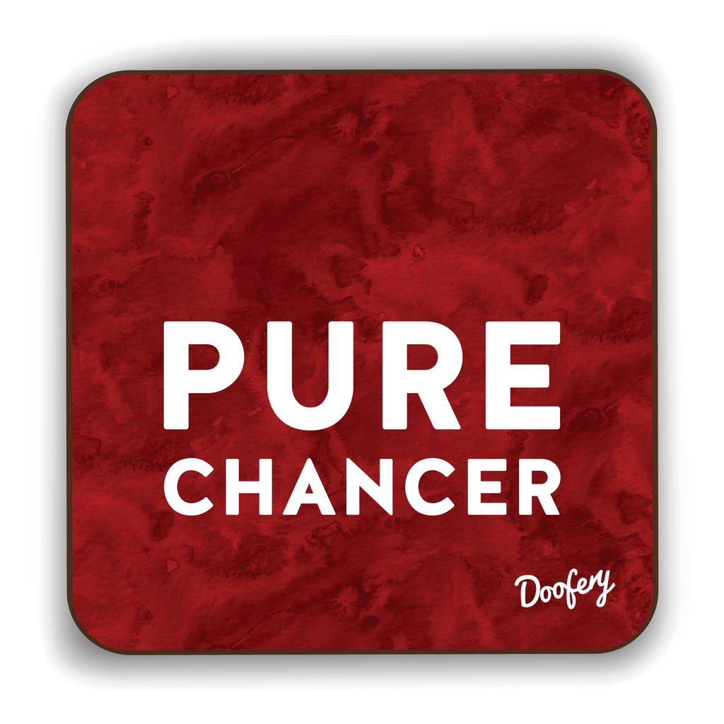 Pure Chancer Scottish Dialect Coaster Coasters Scotland Scottish Scots Gift Ideas Souvenir Present Highland Tartan Personalised Patter Banter Slogan Pure Premium Dialect Glasgow Edinburgh Doofery