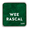 Wee Rascal Scottish Dialect Coaster Coasters Scotland Scottish Scots Gift Ideas Souvenir Present Highland Tartan Personalised Patter Banter Slogan Pure Premium Dialect Glasgow Edinburgh Doofery