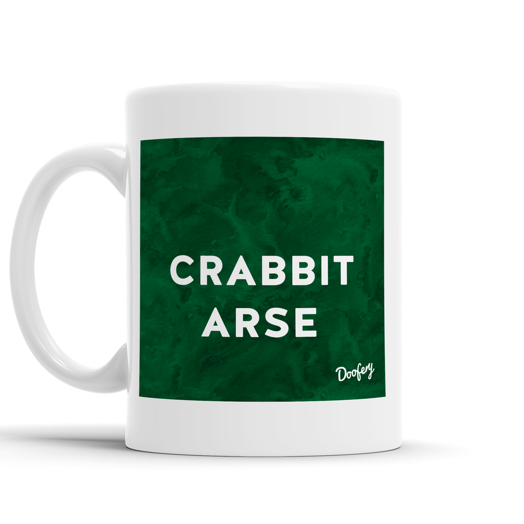 Crabbit Arse Scottish Dialect Mug Mugs Scotland Scottish Scots Gift Ideas Souvenir Present Highland Tartan Personalised Patter Banter Slogan Pure Premium Dialect Glasgow Edinburgh Doofery