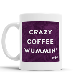 Crazy Coffee Wummin' Scottish Dialect Mug Mugs Scotland Scottish Scots Gift Ideas Souvenir Present Highland Tartan Personalised Patter Banter Slogan Pure Premium Dialect Glasgow Edinburgh Doofery