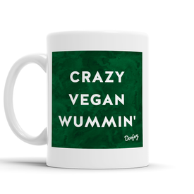 Crazy Vegan Wummin' Scottish Dialect Mug Mugs Scotland Scottish Scots Gift Ideas Souvenir Present Highland Tartan Personalised Patter Banter Slogan Pure Premium Dialect Glasgow Edinburgh Doofery