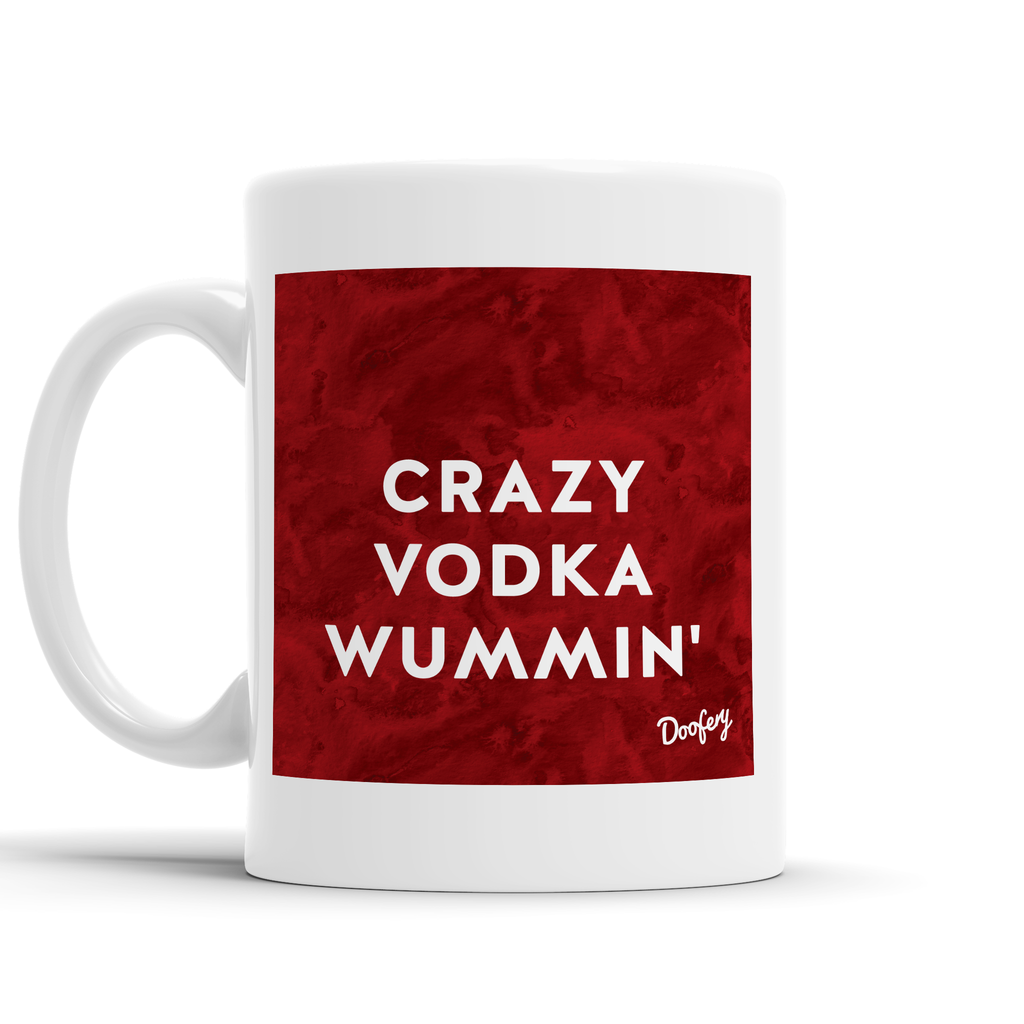 Crazy Vodka Wummin' Scottish Dialect Mug Mugs Scotland Scottish Scots Gift Ideas Souvenir Present Highland Tartan Personalised Patter Banter Slogan Pure Premium Dialect Glasgow Edinburgh Doofery