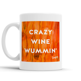 Crazy Wine Wummin' Scottish Dialect Mug Mugs Scotland Scottish Scots Gift Ideas Souvenir Present Highland Tartan Personalised Patter Banter Slogan Pure Premium Dialect Glasgow Edinburgh Doofery