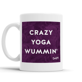 Crazy Yoga Wummin' Scottish Dialect Mug Mugs Scotland Scottish Scots Gift Ideas Souvenir Present Highland Tartan Personalised Patter Banter Slogan Pure Premium Dialect Glasgow Edinburgh Doofery