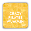 Crazy Pilates Wummin' Scottish Dialect Coaster Coasters Scotland Scottish Scots Gift Ideas Souvenir Present Highland Tartan Personalised Patter Banter Slogan Pure Premium Dialect Glasgow Edinburgh Doofery