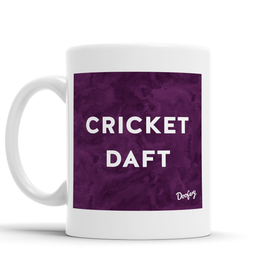 Cricket Daft Scottish Dialect Mug Mugs Scotland Scottish Scots Gift Ideas Souvenir Present Highland Tartan Personalised Patter Banter Slogan Pure Premium Dialect Glasgow Edinburgh Doofery