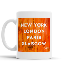 New York, London, Paris, Hometown Scottish Dialect Mug Mugs Scotland Scottish Scots Gift Ideas Souvenir Present Highland Tartan Personalised Patter Banter Slogan Pure Premium Dialect Glasgow Edinburgh Doofery