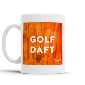 Golf Daft Scottish Dialect Mug Mugs Scotland Scottish Scots Gift Ideas Souvenir Present Highland Tartan Personalised Patter Banter Slogan Pure Premium Dialect Glasgow Edinburgh Doofery