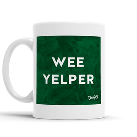 Wee Yelper Scottish Dialect Mug Mugs Scotland Scottish Scots Gift Ideas Souvenir Present Highland Tartan Personalised Patter Banter Slogan Pure Premium Dialect Glasgow Edinburgh Doofery
