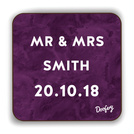 Mister and Missus Scottish Dialect Coaster Coasters Scotland Scottish Scots Gift Ideas Souvenir Present Highland Tartan Personalised Patter Banter Slogan Pure Premium Dialect Glasgow Edinburgh Doofery