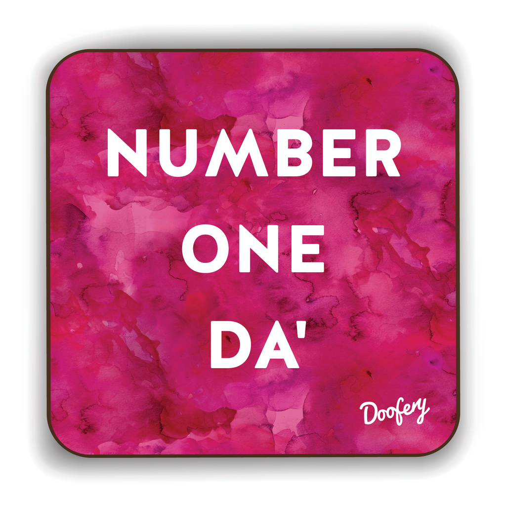 Number One Da' Scottish Dialect Coaster Coasters Scotland Scottish Scots Gift Ideas Souvenir Present Highland Tartan Personalised Patter Banter Slogan Pure Premium Dialect Glasgow Edinburgh Doofery