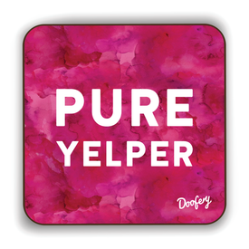 Pure Yelper Scottish Dialect Coaster Coasters Scotland Scottish Scots Gift Ideas Souvenir Present Highland Tartan Personalised Patter Banter Slogan Pure Premium Dialect Glasgow Edinburgh Doofery