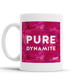 Pure Dynamite Scottish Dialect Mug Mugs Scotland Scottish Scots Gift Ideas Souvenir Present Highland Tartan Personalised Patter Banter Slogan Pure Premium Dialect Glasgow Edinburgh Doofery