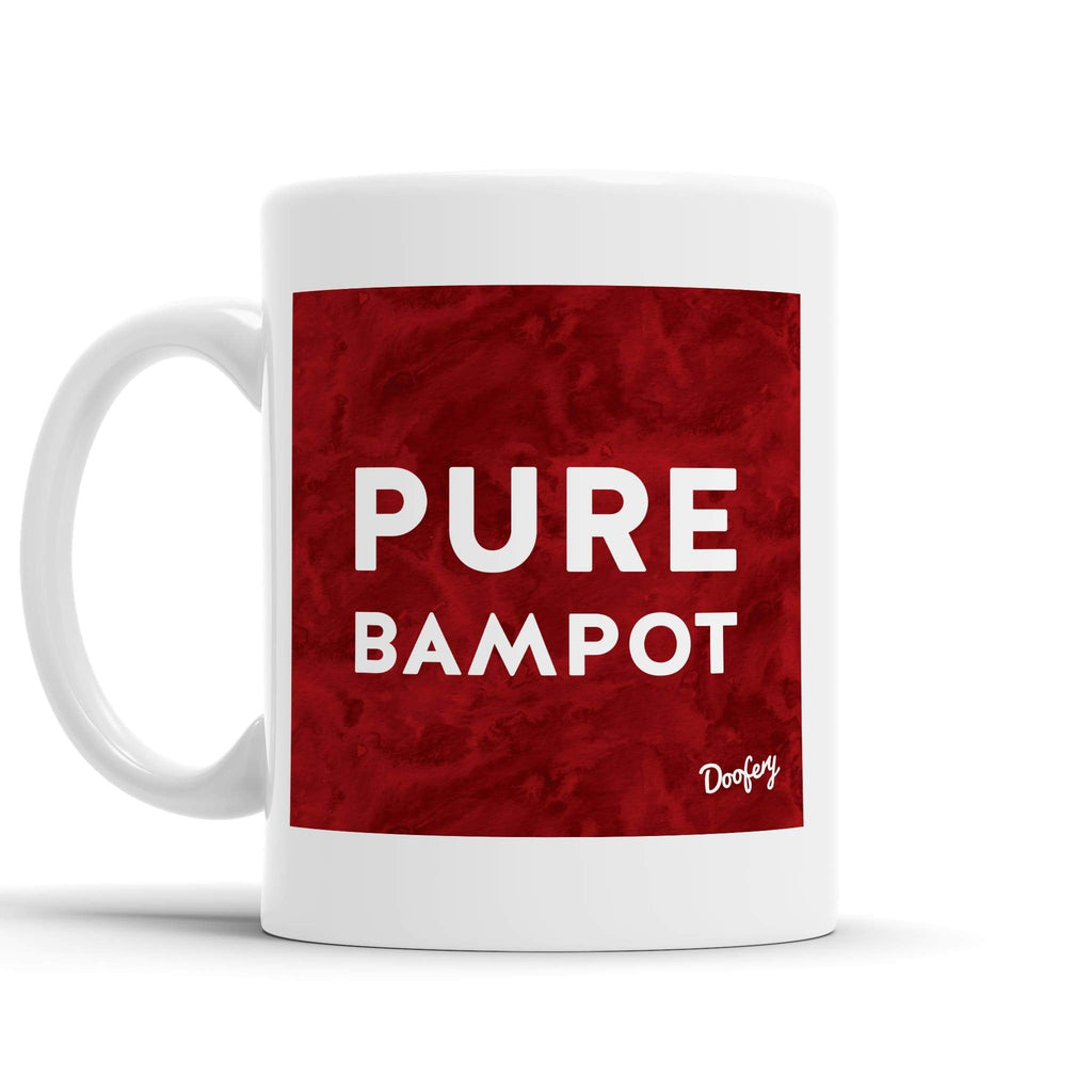 Pure Bampot Scottish Dialect Mug Mugs Scotland Scottish Scots Gift Ideas Souvenir Present Highland Tartan Personalised Patter Banter Slogan Pure Premium Dialect Glasgow Edinburgh Doofery