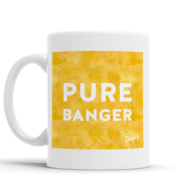 Pure Banger Scottish Dialect Mug Mugs Scotland Scottish Scots Gift Ideas Souvenir Present Highland Tartan Personalised Patter Banter Slogan Pure Premium Dialect Glasgow Edinburgh Doofery