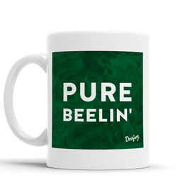 Pure Beelin' Scottish Dialect Mug Mugs Scotland Scottish Scots Gift Ideas Souvenir Present Highland Tartan Personalised Patter Banter Slogan Pure Premium Dialect Glasgow Edinburgh Doofery