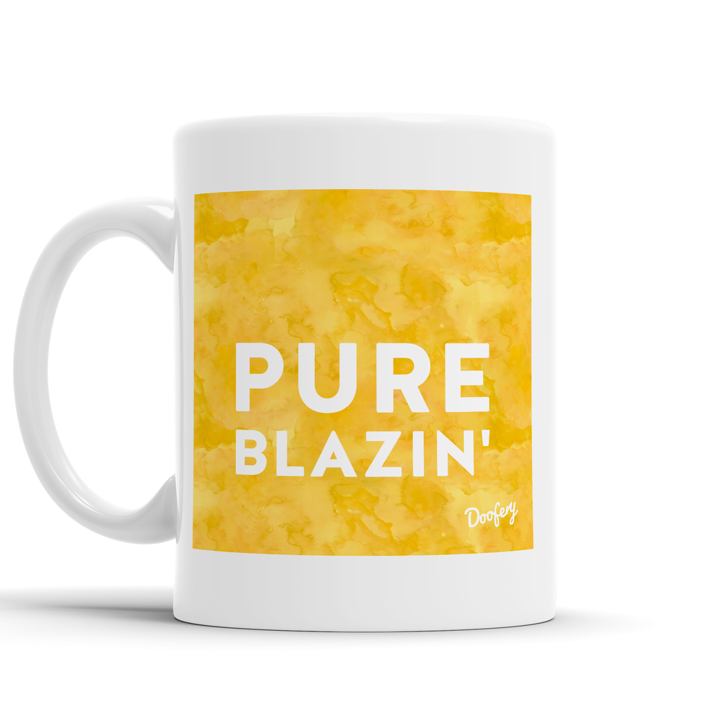 Pure Blazin' Scottish Dialect Mug Mugs Scotland Scottish Scots Gift Ideas Souvenir Present Highland Tartan Personalised Patter Banter Slogan Pure Premium Dialect Glasgow Edinburgh Doofery