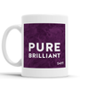 Pure Brilliant Scottish Dialect Mug Mugs Scotland Scottish Scots Gift Ideas Souvenir Present Highland Tartan Personalised Patter Banter Slogan Pure Premium Dialect Glasgow Edinburgh Doofery