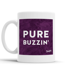 Pure Buzzin' Scottish Dialect Mug Mugs Scotland Scottish Scots Gift Ideas Souvenir Present Highland Tartan Personalised Patter Banter Slogan Pure Premium Dialect Glasgow Edinburgh Doofery