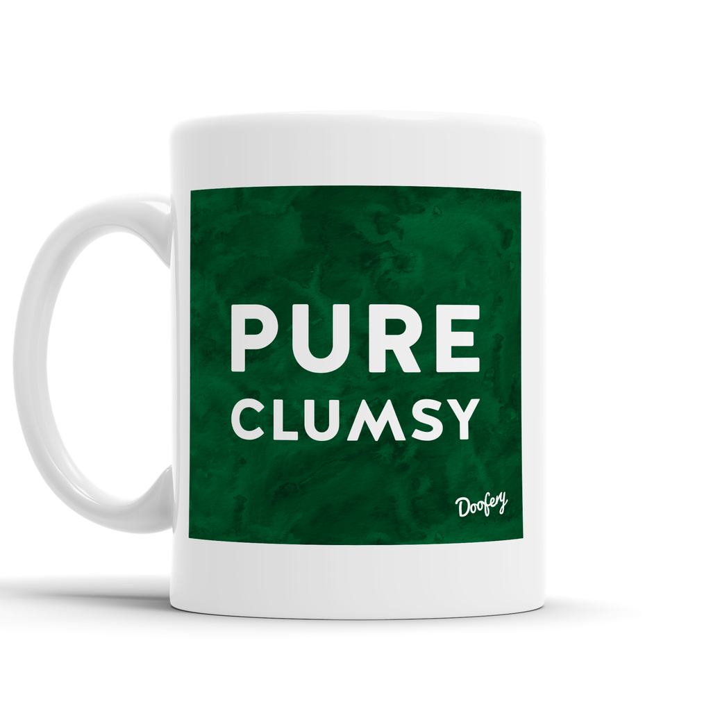 Pure Clumsy Scottish Dialect Mug Mugs Scotland Scottish Scots Gift Ideas Souvenir Present Highland Tartan Personalised Patter Banter Slogan Pure Premium Dialect Glasgow Edinburgh Doofery