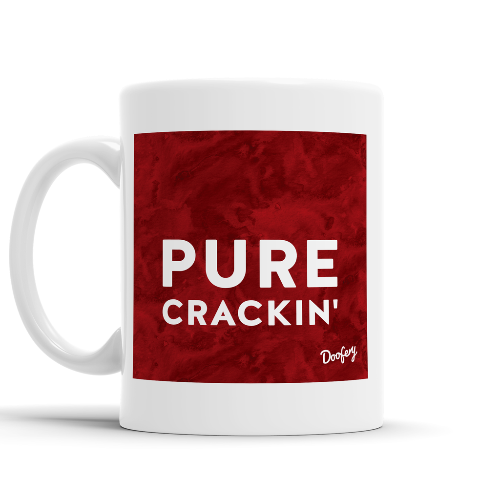 Pure Crackin' Scottish Dialect Mug Mugs Scotland Scottish Scots Gift Ideas Souvenir Present Highland Tartan Personalised Patter Banter Slogan Pure Premium Dialect Glasgow Edinburgh Doofery