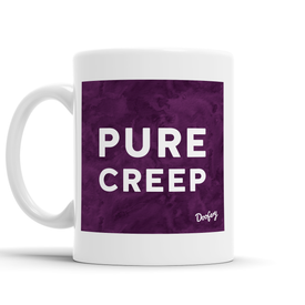 Pure Creep Scottish Dialect Mug Mugs Scotland Scottish Scots Gift Ideas Souvenir Present Highland Tartan Personalised Patter Banter Slogan Pure Premium Dialect Glasgow Edinburgh Doofery